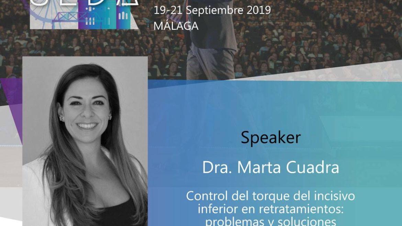 SEDA 2019 Dra. Marta Cuadra López – Invisalign Jerez